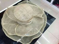 Sinamay Fabric hats, Wedding Hat, church hat, woman hat