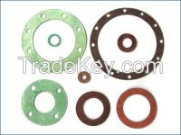 Non-metal Flat Gasket with ptfe asbestos rubber graphite cork mica