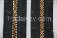 plastic zipper with plated shining teeth