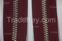 3# 5# metal zipper with special plating