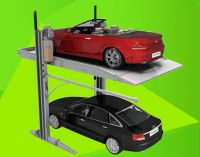 Simple parking equipment pitching type home garage