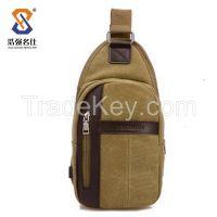 Factory New Canvas Bag/ Messenger Shoulder bags/ Men Bag/ Chest Bag/One strap bags