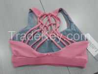 Fashion women fitness wear seamless yoga sport bra