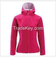 2016 high quality outdoor women's softshell jacket