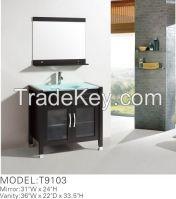 solid wood modern bathroom cabinet T9103