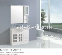 gloss white bathroom vanity unit TM8015