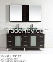 double sink bathroom vanity cabinet T9119