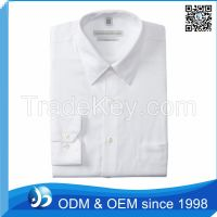 Custom 100% Cotton White Triple Collar Shirt
