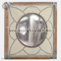 Stylish & Affordable Convex Mirrors With Wooden Frame