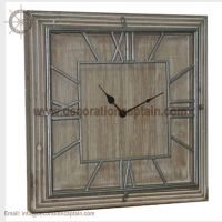 Wooden Wall Clocks Rustic Wood and Metal Clock Antique Wooden Clock Wooden Clock Decoration