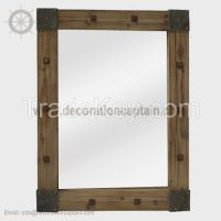 Octagonal Wall Mirror Wood hexagonal Mirror Square Mirrors Wooden Frame Mirrors