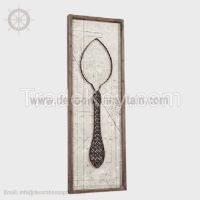 3D Canvas Decorative Wall Hangings Rustic Metal Wall Décor Metal Wall Art Wrought Iron wall décor Spoon Fork
