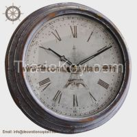 Antique metal clock wall art vintage industrial metal clock classic kitchen clocks