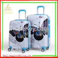 Custome Design abs pc luggage in 3 sets
