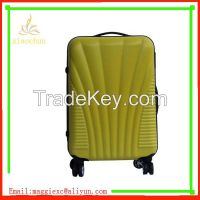 Double zipper ABS trolley suitcase, travel bag luggage set factory