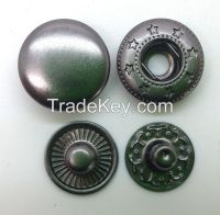 Nickle-Free / Iron Free Heavy 4/part Metal Buttons For Leather & Textile Garments