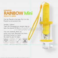 Rainbow Mini Selfie, Mobile phone holder, Monopod, selfie stick, high quality selfie stick