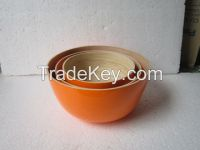 Exporting quality painted bamboo bowl for fruit/ vegetable