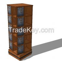Revolved Spinner Cabinet And Wooden Spinner Cabinet