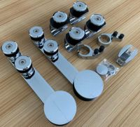 Golden Stainless steel glass sliding shower door rollers/sliding door parts accessories/shower glass hardware for bathroom