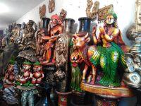 Terracotta sculptures, pots, vases, decorative items