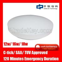 super brightness surface mounted rechargeable led home emergency light led oyster ceiling light 12w