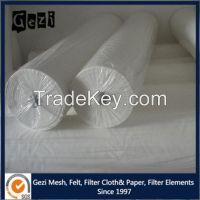 Gezi factory price high quality micron thread diameter polypropylene/polyester/nylon woven mono filter cloth for filter press