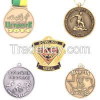 Custom factory price medals, customized souvenir 3d sports medals with ribbon,