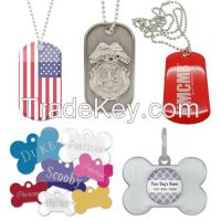 Custom Aluminum Dog Tags, Zinc-alloy dog tags , Stainless steel dog tags