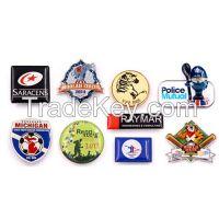 custom printed badge, school badge, car club badge, printing lapel pins, offset print and silkscreen print badge