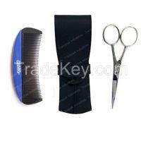 Beard grooming kit set  beard scissors comb case