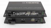 1080P HDMI and keyboard or mouse fiber converter with IR signal remote