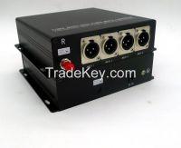 Profession CCTV/AV balance audio(XLR) over 4ch fiber converters