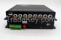 8ch AHD and audio over fiber converters with multimode or singlemode