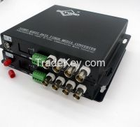 OEM 4ch HDTVI and audio over optic multiplexers with FC/SC/ST