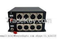 CCTV/AV balance audio(XLR) over optic transceiver with SC/ST/FC OEM
