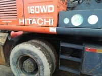 Japanese Hydraulic Wheel Excavator,Hitachi Used EX160 Wheel Digger,Secondhand Cheap EX160 Wheel Excavator