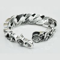 Sterling Silver Bold Curb Chain Bracelet for Men