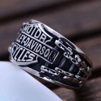 Men's Sterling Silver Biker Ring