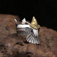 Men's Sterling Silver Eagle Wrap Ring