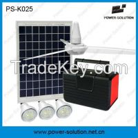 10W Solar Home Lighting DC Fan kit with 7Ah rechargeable battery