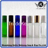 Wholesale different color 10ml glass roll on bottle with roller and cap