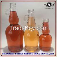 wholesale 500ml,750ml,1L clear California wine bottle
