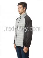 Men's packable Down Mixed Media Jacket