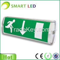 rechargeable green led exit sign
