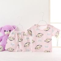 Baby clothing sets for summer short sleeves short pants 0-2 ages