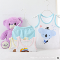 0-3 years baby vest & shorts suit summer use