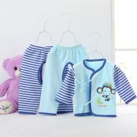 New born baby cotton underwear sets three-piece spring autumn clothes suits