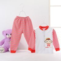 0-3 ages baby pure cotton underwear suits spring autumn clothes long sleeves