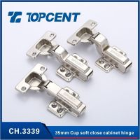 Soft close hydraulic hinge for furniture cabinet door